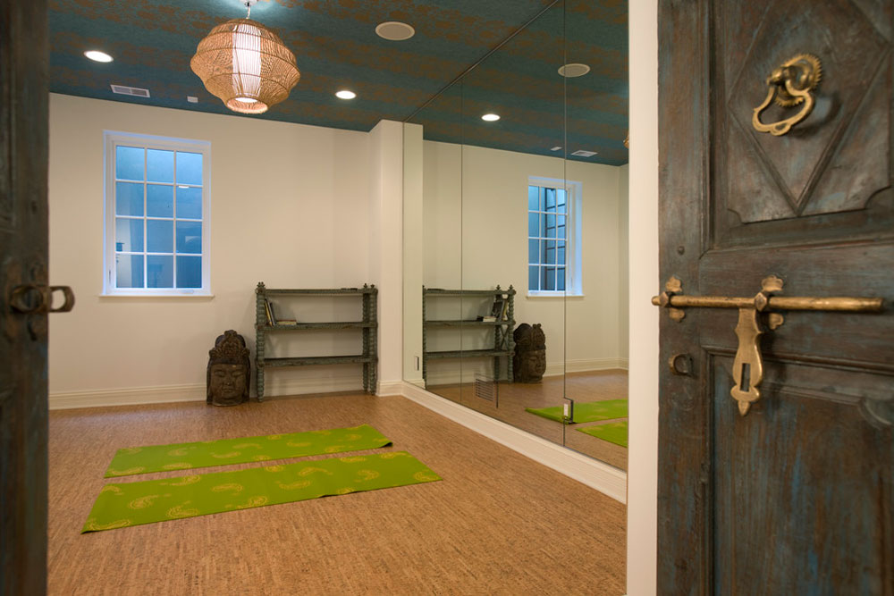 mediterranean-home-gym Selection of the best flooring for pet owners
