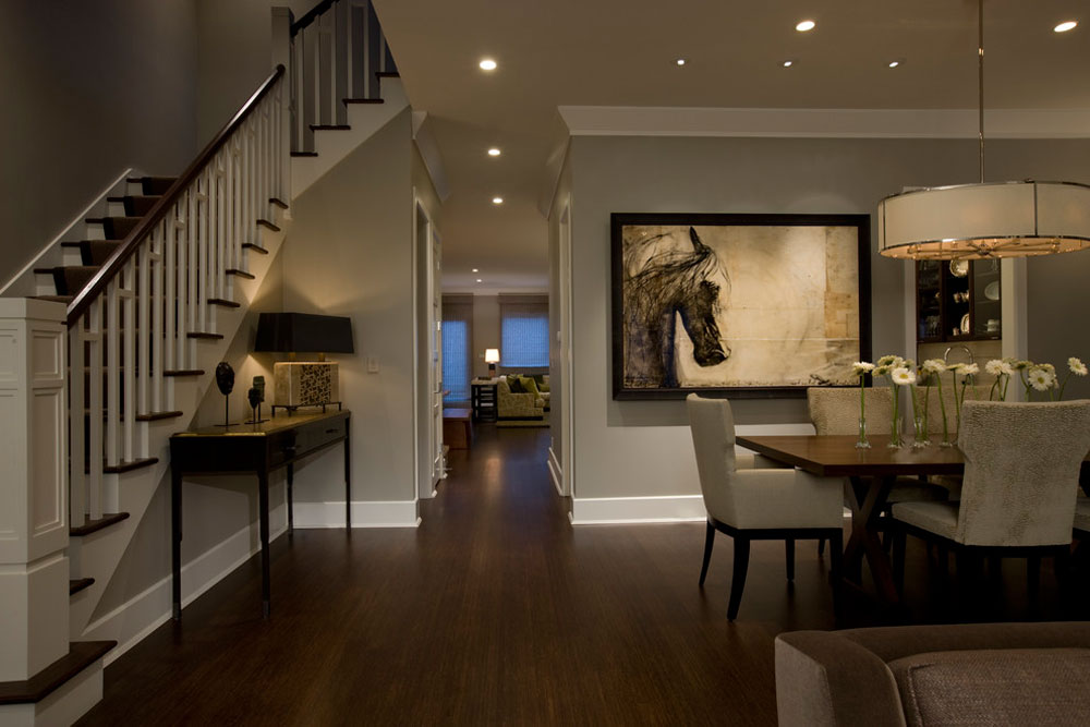 traditional dining room Selection of the best flooring for pet owners