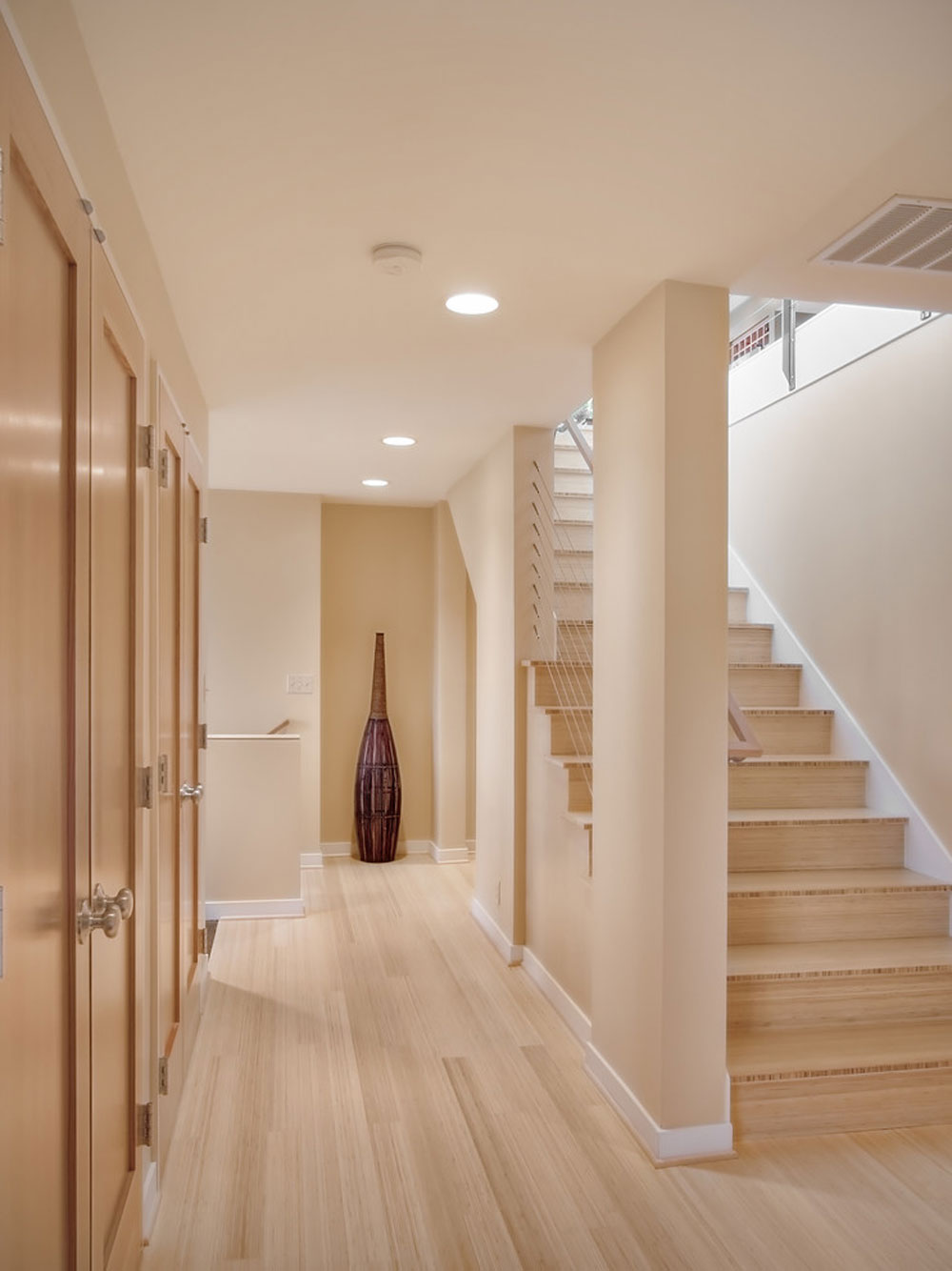 contemporary stairs1 Selecting the best floor for pet owners