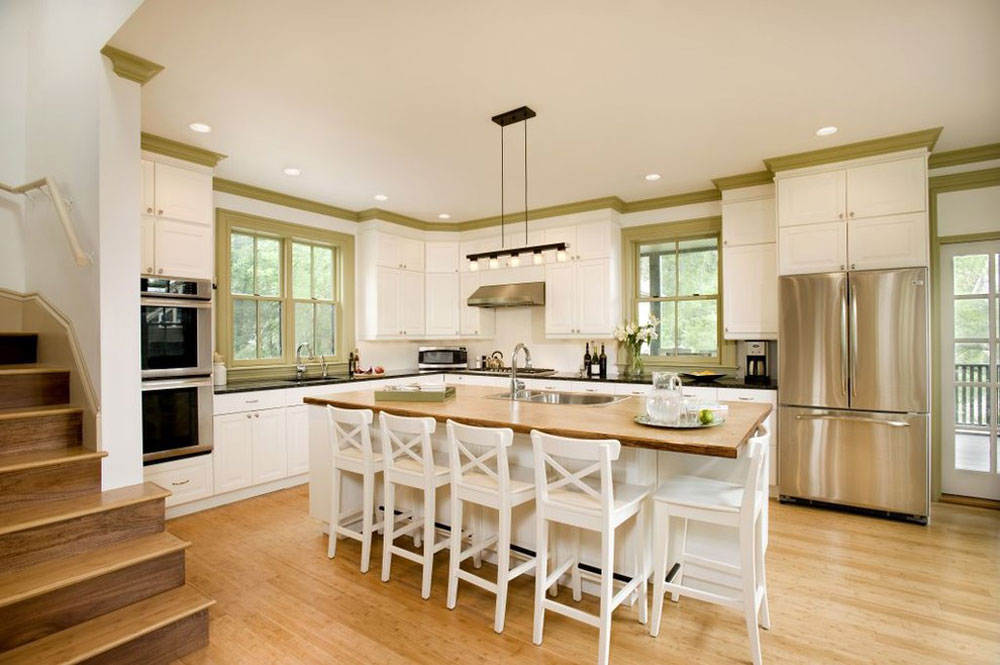 modern kitchen bamboo floors pros and cons