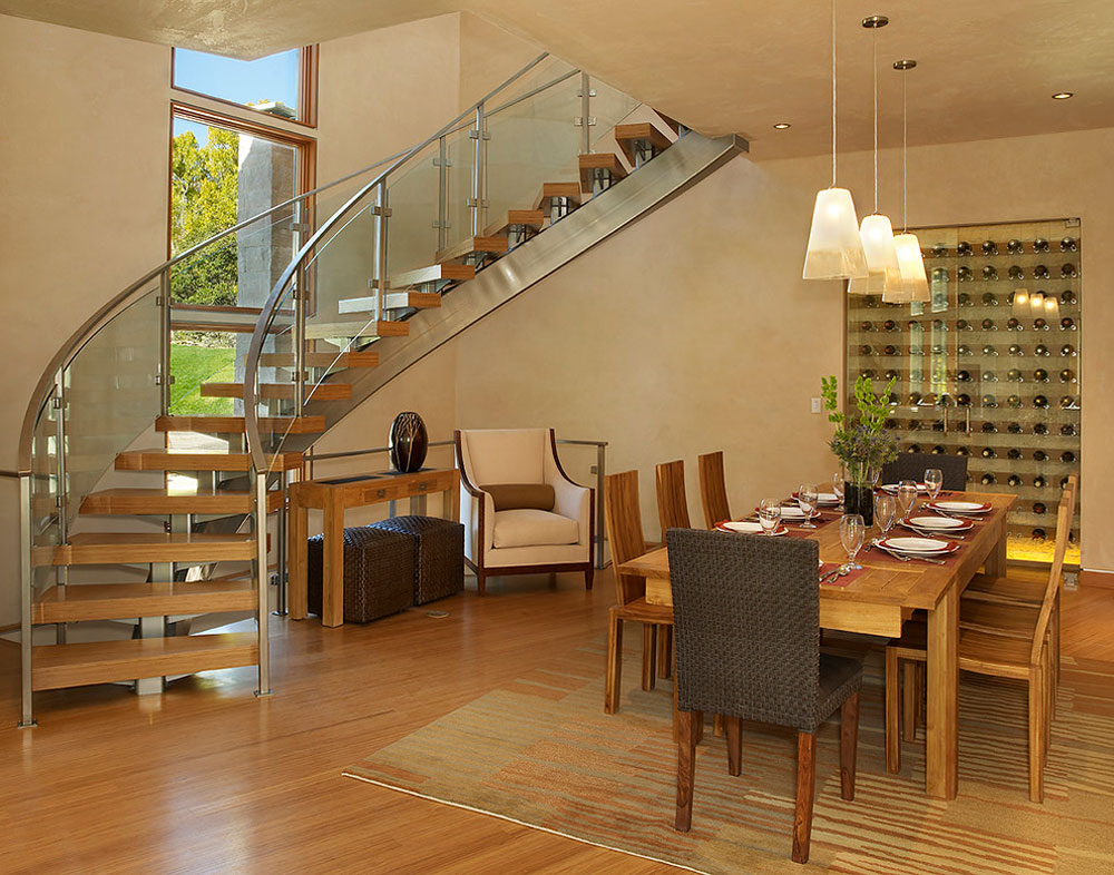 Modern dining room bamboo floors pros and cons