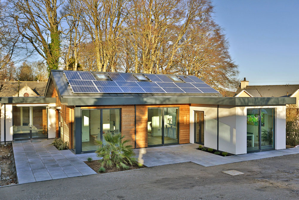 132 Building an energy-efficient house with an energy-saving interior design