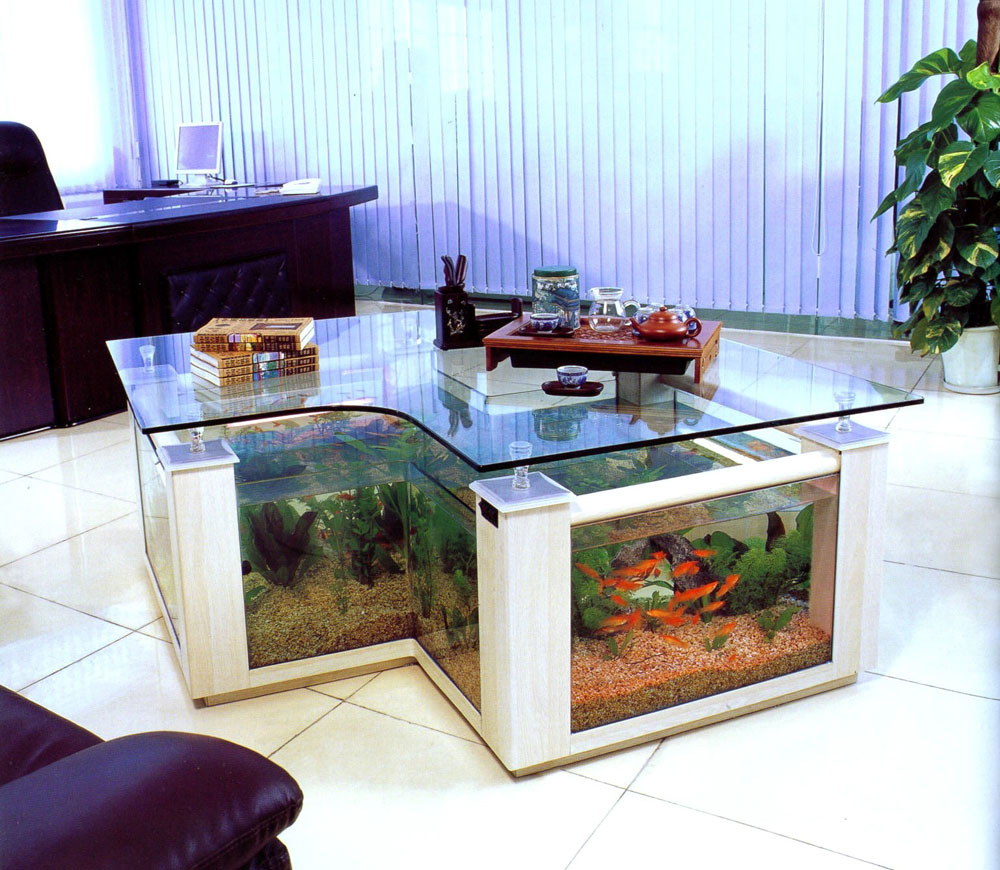 Change the look of your room with this aquarium tank 6 Change the look of your room with these aquarium tanks