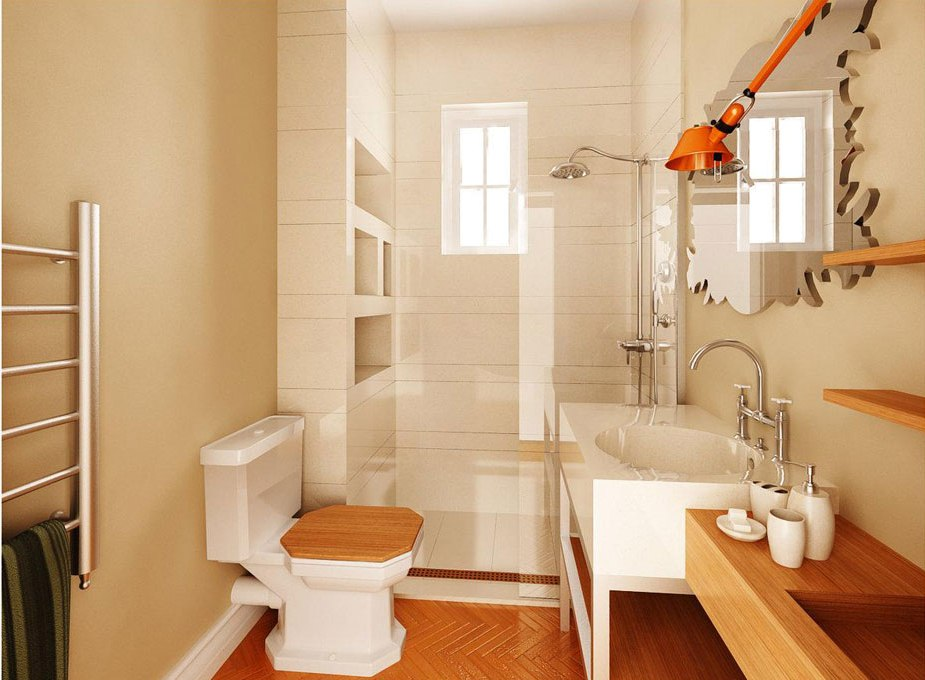 How to decorate a small bathroom and still save space 1 How to decorate a small bathroom and still save space