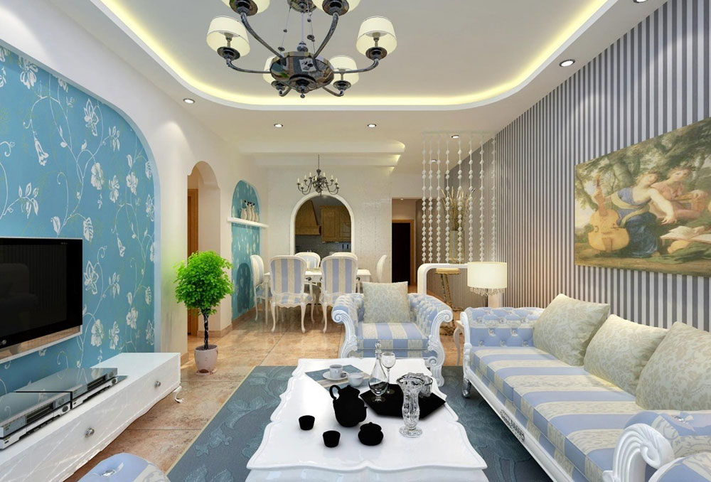 Beautiful living room with striped walls-7 Beautiful living room with striped walls