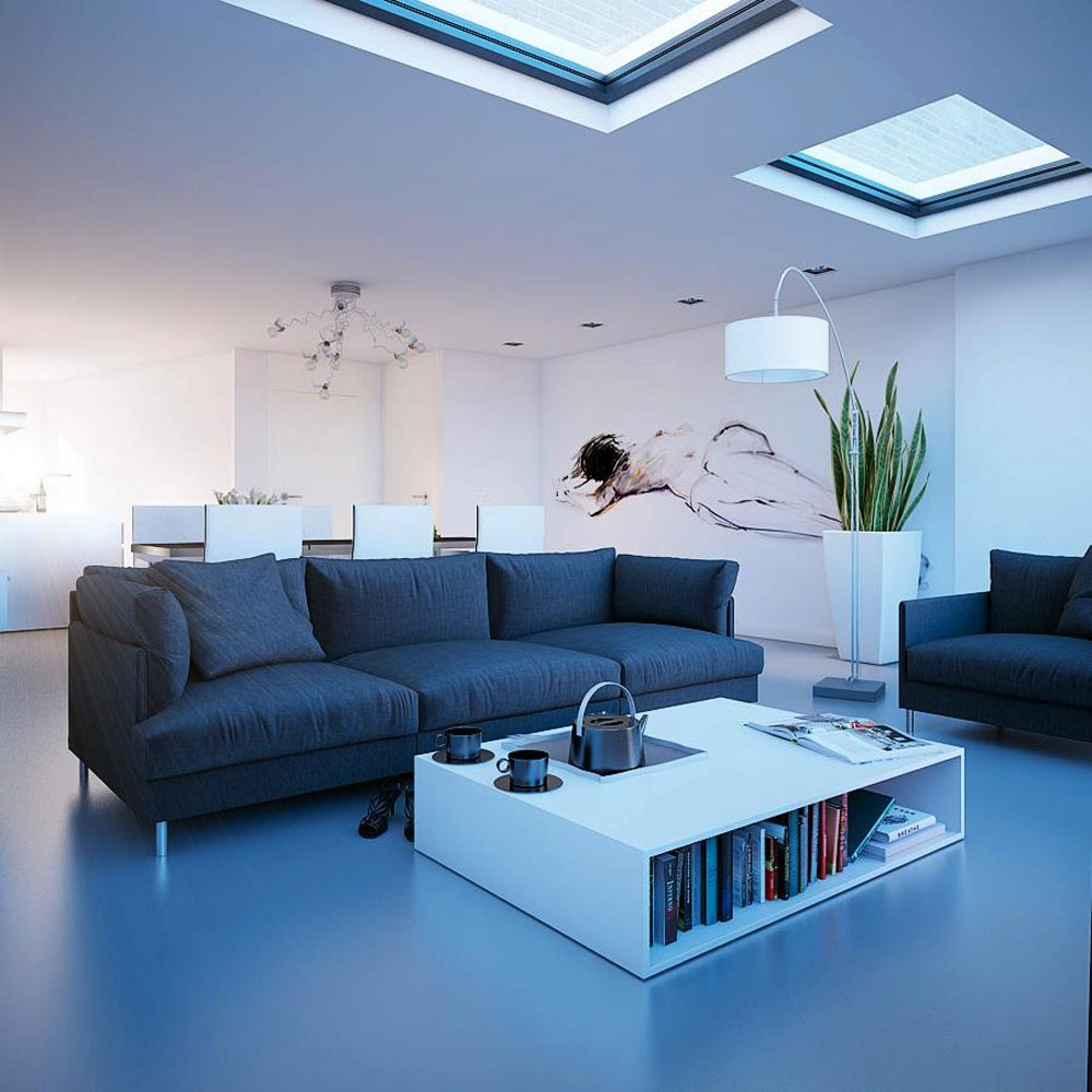 Living rooms with skylights that provide natural light 9 living rooms with skylights that provide natural light