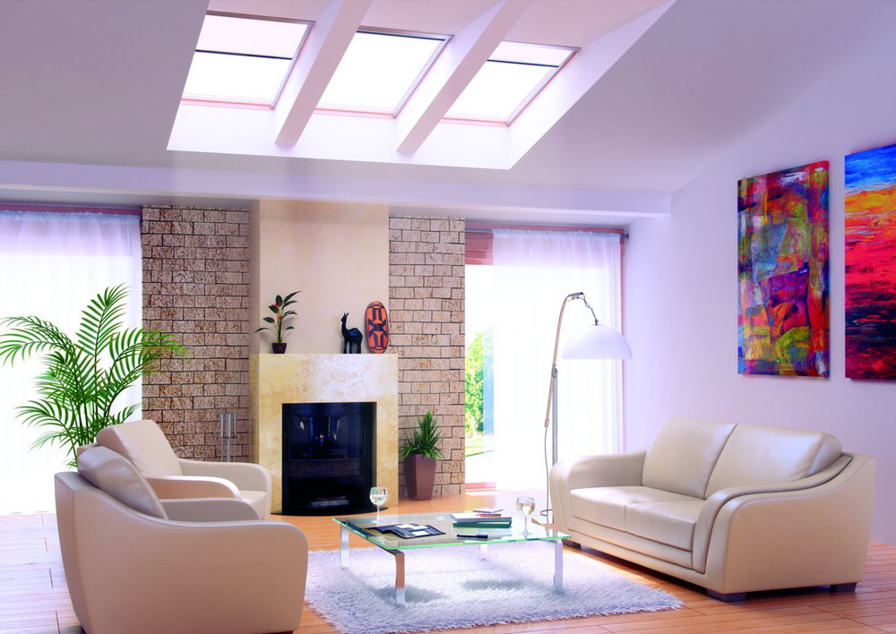 Living room-with-skylights-with-natural-light-10 Living rooms with skylights with natural light