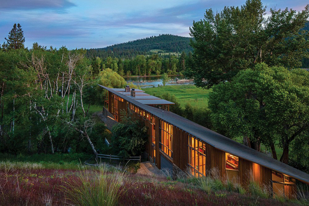 A-Modern-Home-With-A-View-In-Montana-4 A modern home with a view in Montana Designed by Cutler Anderson Architects