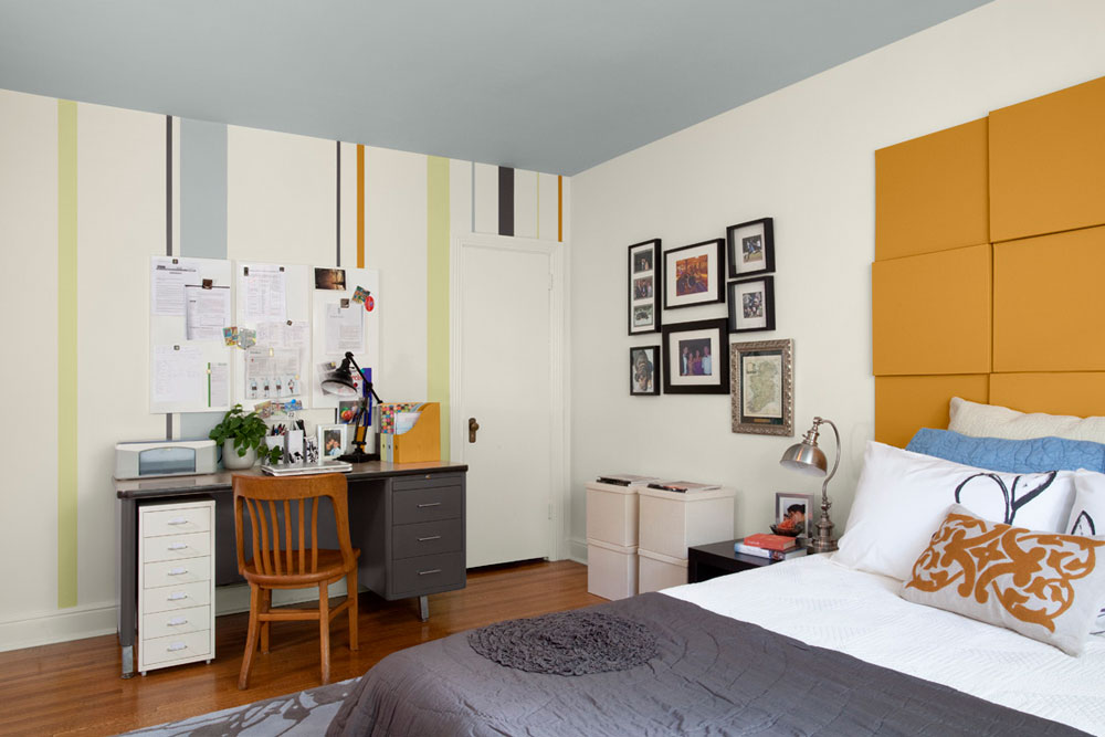 The not at all extravagant bedrooms with striped walls-6 The not at all extravagant bedrooms with striped walls