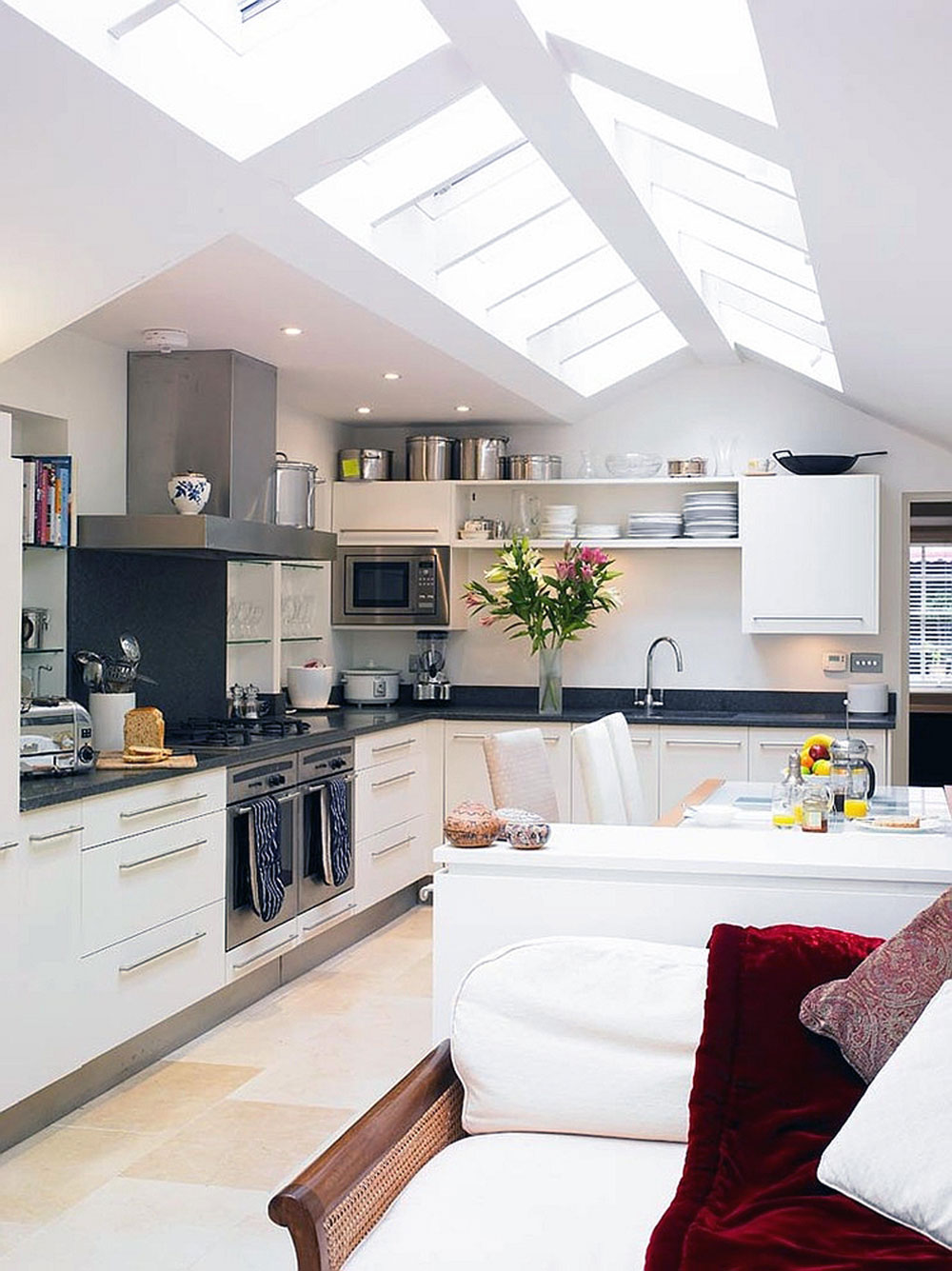 Kitchens with skylights for more natural light 2 kitchens with skylights for more natural light