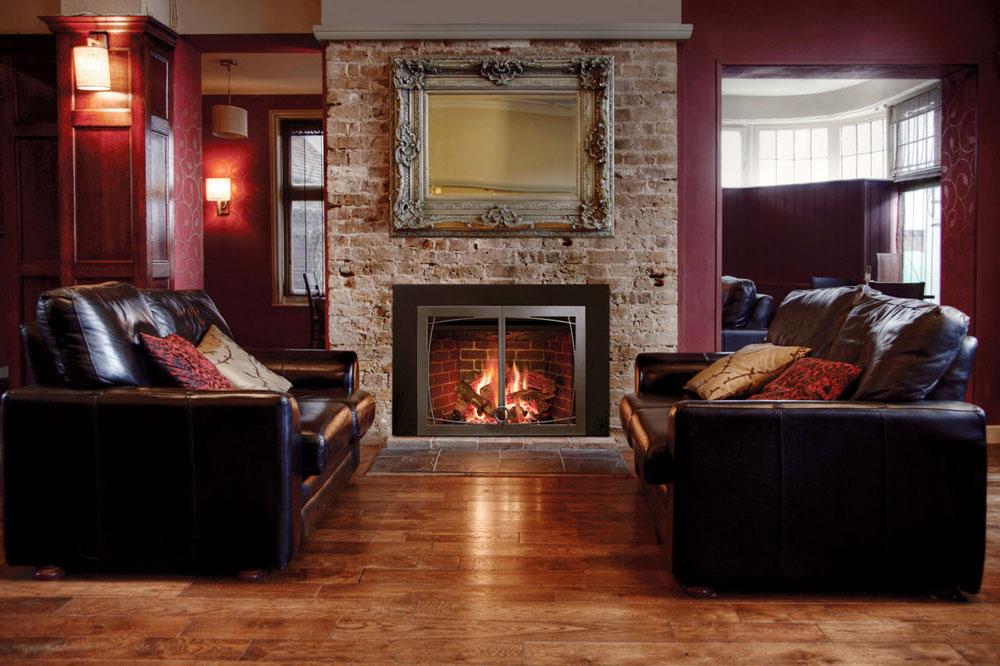 Show-window-of-the-living room-interior-design-with-fireplace-5 Show-window of the living room-interior design with a fireplace