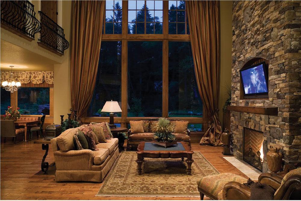 Show-window-of-the-living room-interior-design-with-fireplace-1 Show-window of the living room-interior design with a fireplace
