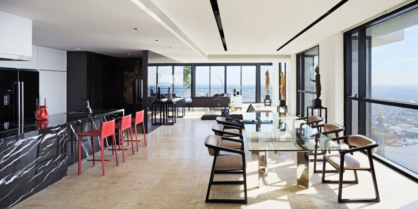 The luxurious PANO penthouse design by Ayutt-And-Associates-4 The luxurious PANO penthouse by Ayutt And Associates