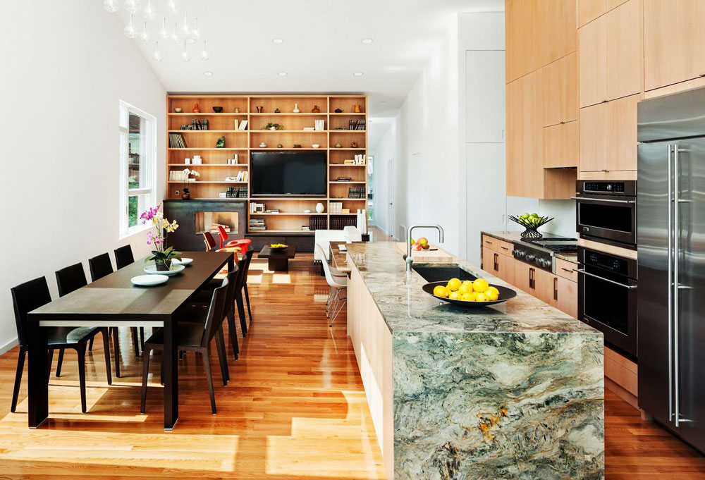 Sympathetic kitchen and dining room combinations-4 Sympathetic kitchen and dining room combinations