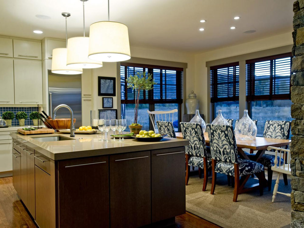 Sympathetic kitchen and dining room combinations-2 Sympathetic kitchen and dining room combinations
