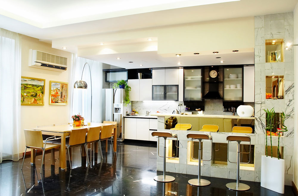 Sympathetic kitchen and dining room combinations-12 Sympathetic kitchen and dining room combinations