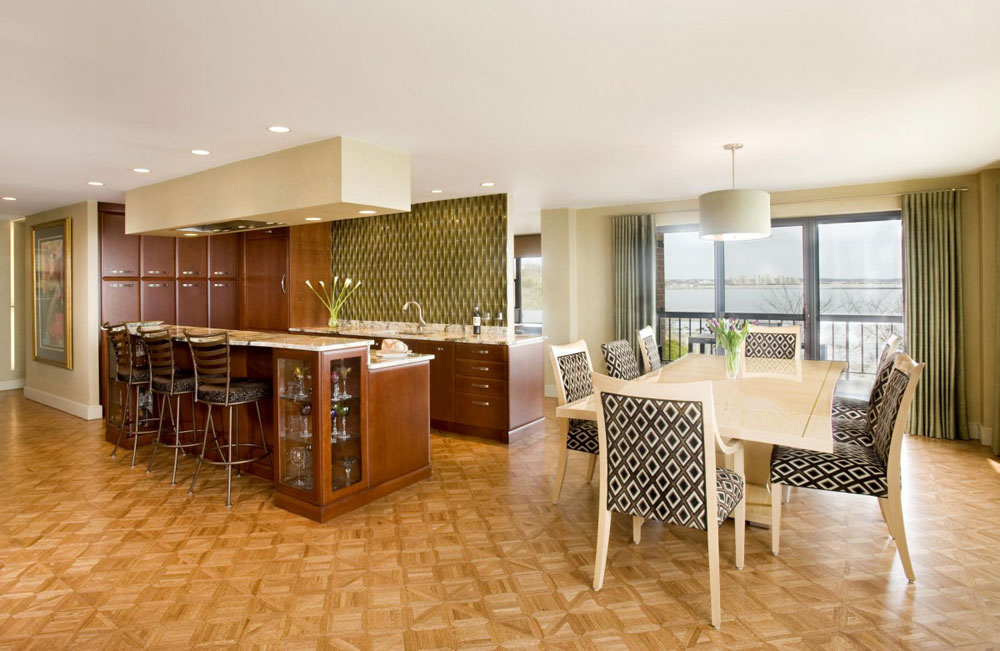 Sympathetic kitchen and dining room combinations-6 Sympathetic kitchen and dining room combinations