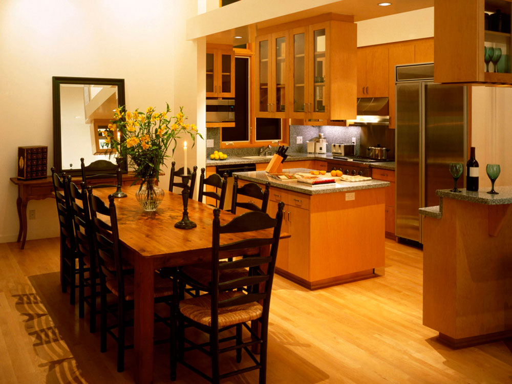 Sympathetic kitchen and dining room combinations-5 Sympathetic kitchen and dining room combinations