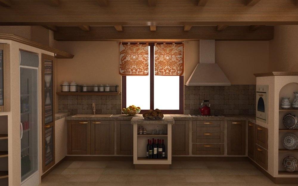 Warm-cozy-and-inviting-rustic-kitchen-interior-111 Warm, cozy and inviting rustic-kitchen interior