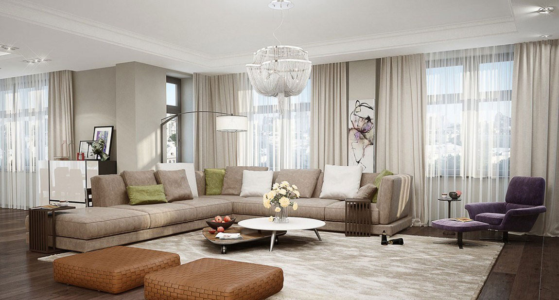 An apartment in Kiev that is an elegant setting of artistic style 3 An apartment in Kiev that is an elegant setting of artistic style