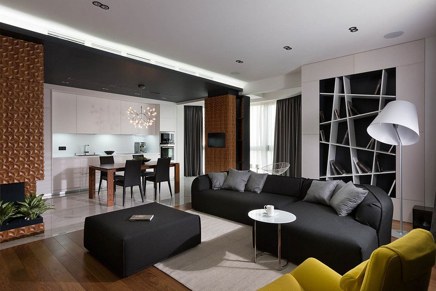 Contemporary-graphite-penthouse-designed by-Denis-Rakaev-10 Contemporary-graphite-penthouse designed by Denis Rakaev
