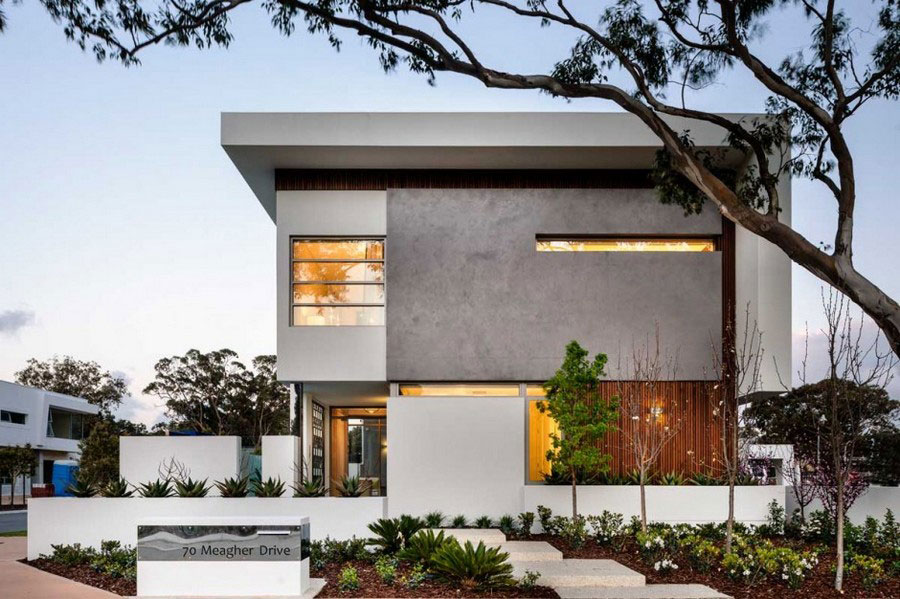 Modern house with fresh interior design and lean architecture 2 Modern house with fresh interior design and lean architecture