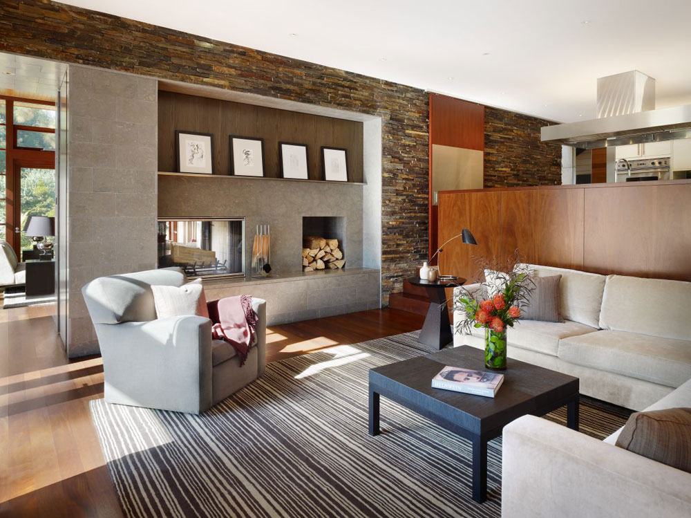 Luxurious home surrounded by trees that complement its elegant furniture.  11 Luxurious home surrounded by trees that complement its elegant furniture