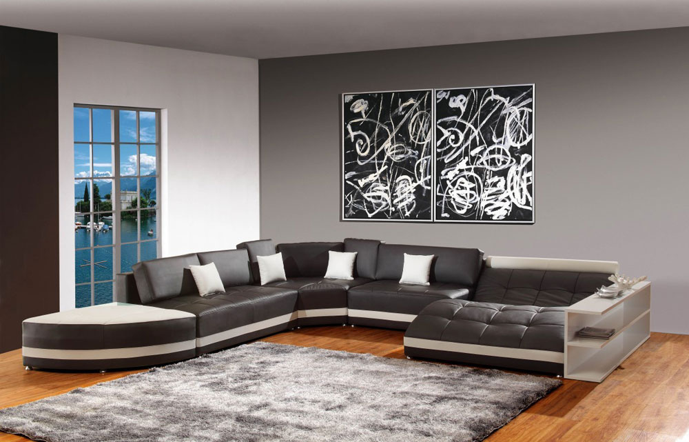 Modern and elegant gray living room interior-7 Modern and elegant gray living room interior