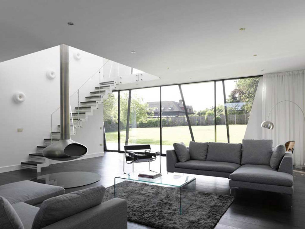 Modern and elegant gray living room interior-4 Modern and elegant gray living room interior