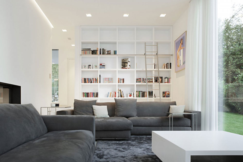 Modern and elegant gray living room interior-12 Modern and elegant gray living room interior