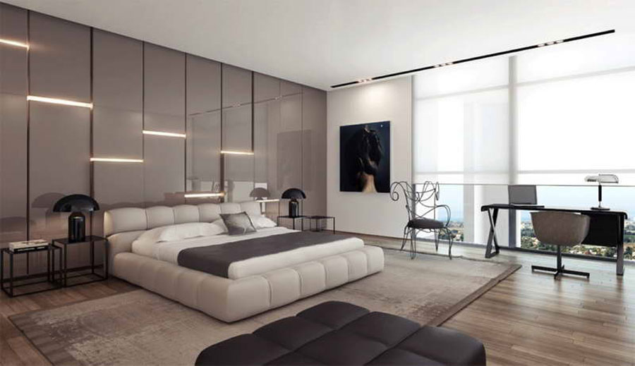 Gray Bedroom Interior Design-13 Gray bedroom interior design that looks pretty good
