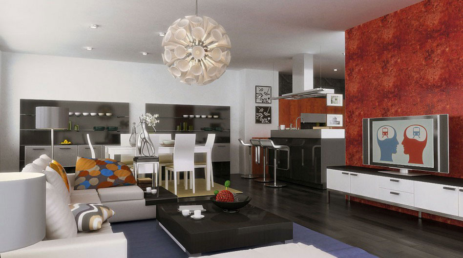 Living-and-Dining-Interior-Design-6 examples of living-dining room interior design to check out