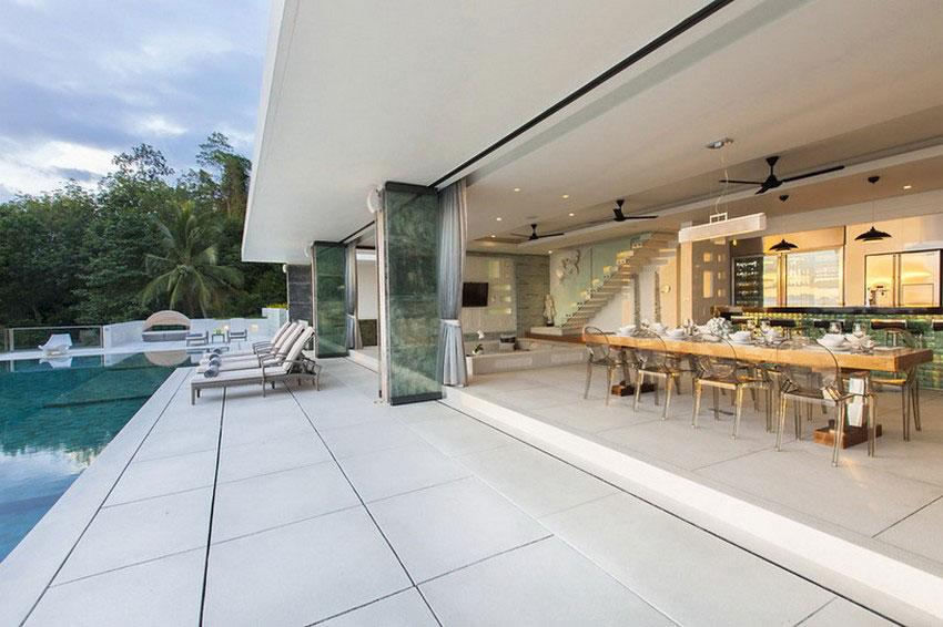 Modern-Tropical-VIlla-5 Modern tropical VIlla with a huge, sparkling pool