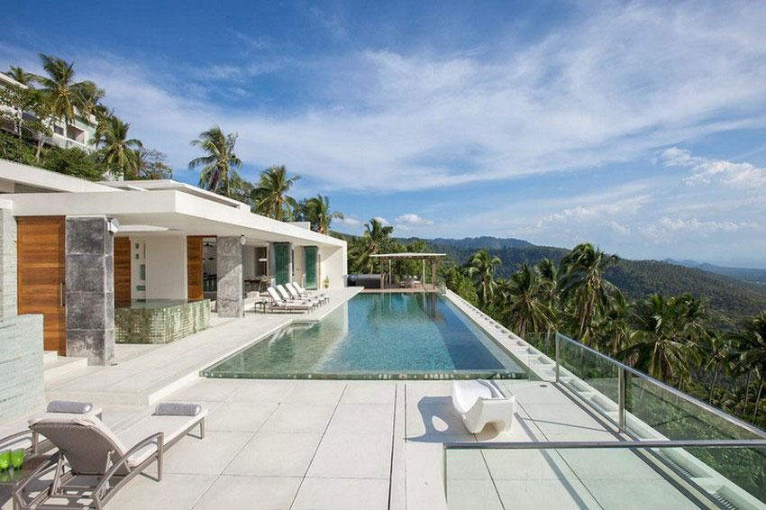 Modern-Tropical-VIlla-3 Modern tropical VIlla with a huge, sparkling pool