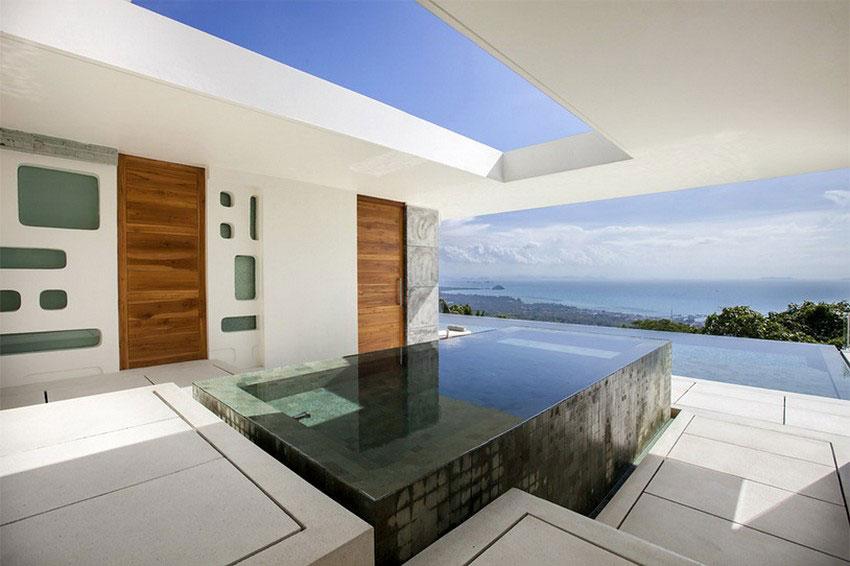 Modern-Tropical-VIlla-16 Modern tropical VIlla with a huge, sparkling pool