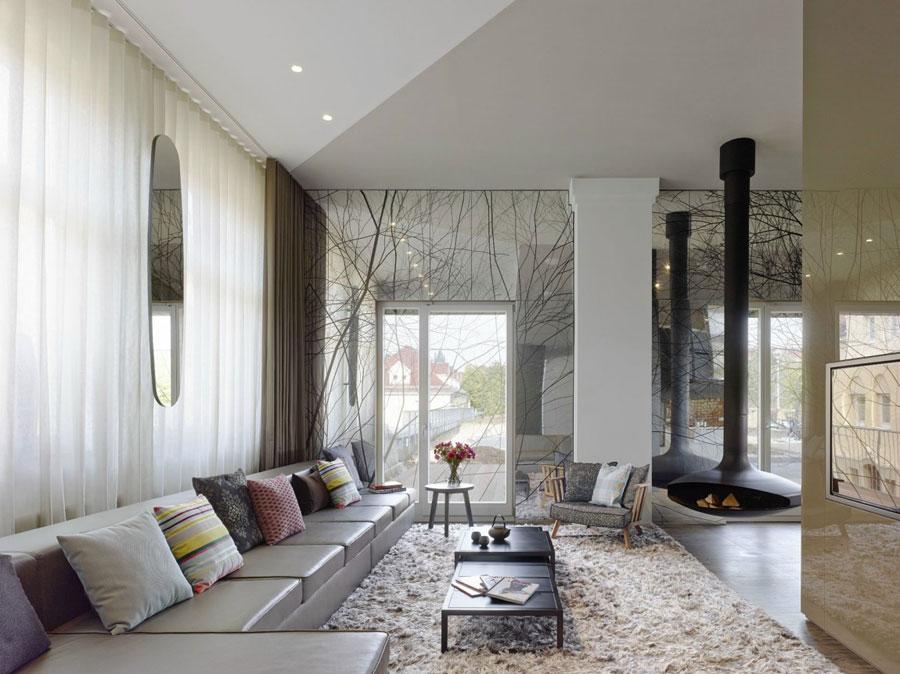 2 Modern and futuristic interior design for a loft