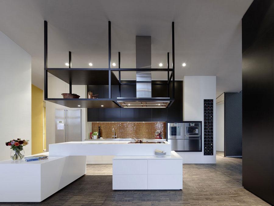 6 Modern and futuristic interior design for a loft