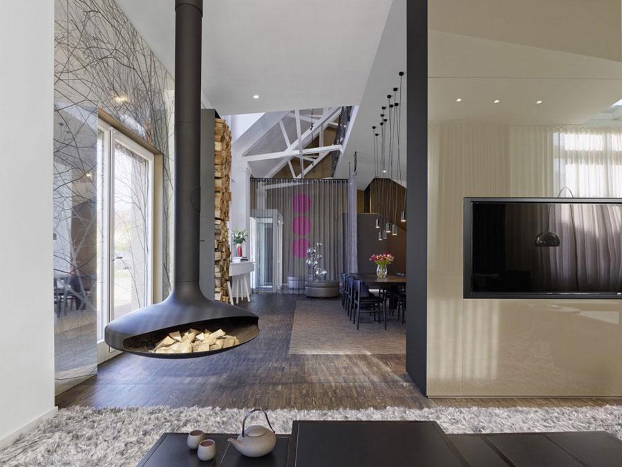 4 Modern and futuristic interior design for a loft