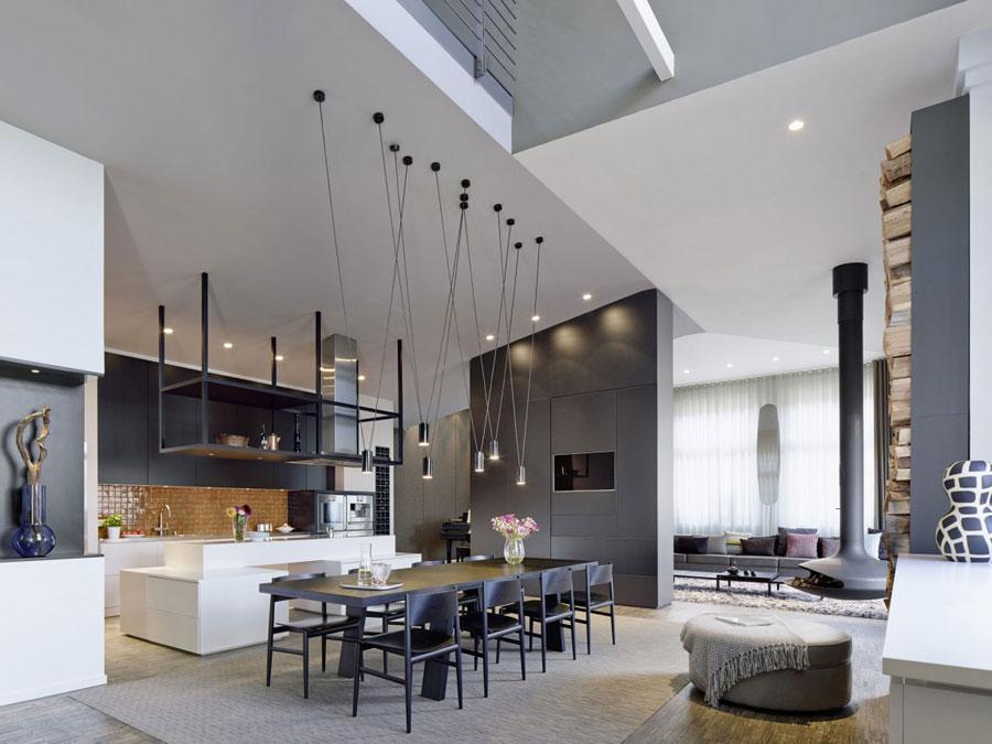 8 Modern and futuristic interior design for a loft