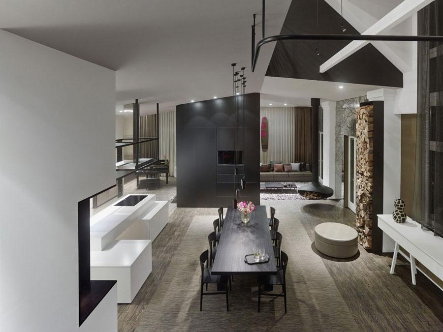 7 Modern and futuristic interior design for a loft