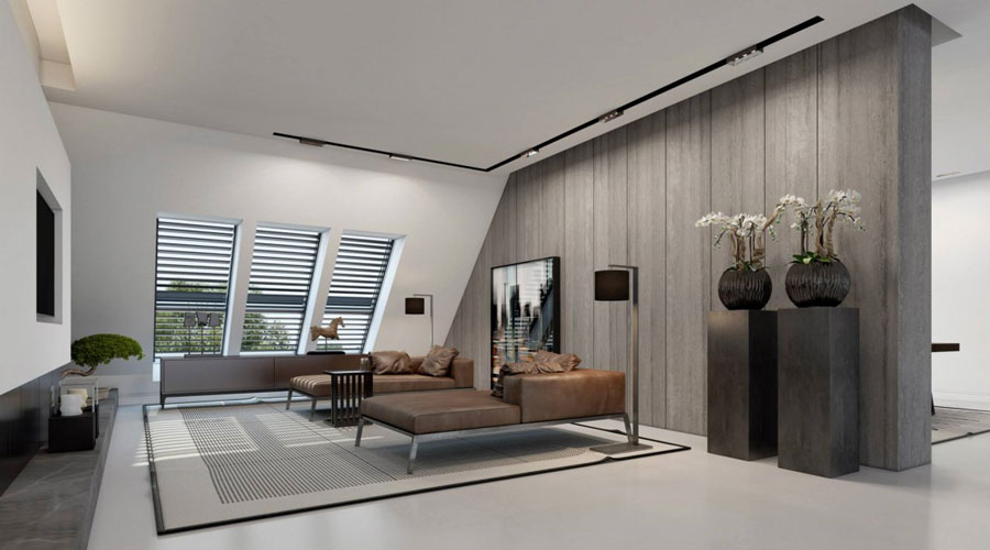 4 Impressive visualization of a stylish apartment interior by Ando Studio