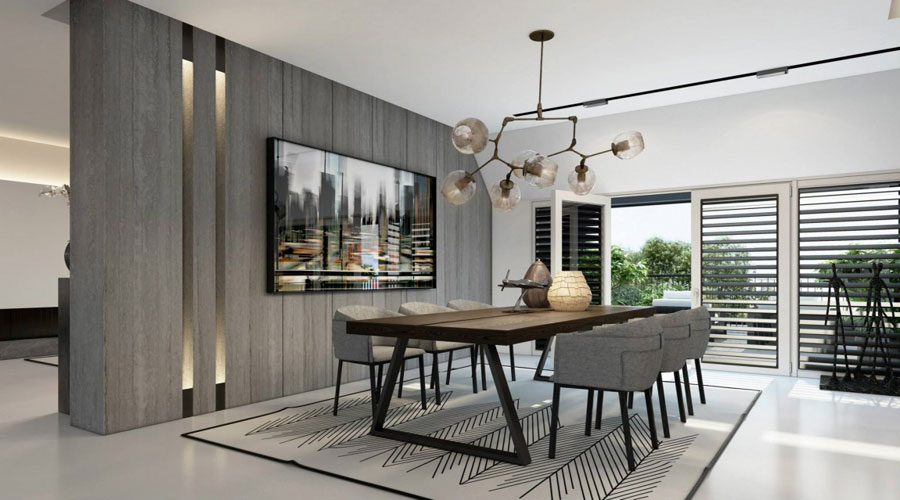 9 Impressive visualization of a stylish apartment interior by Ando Studio