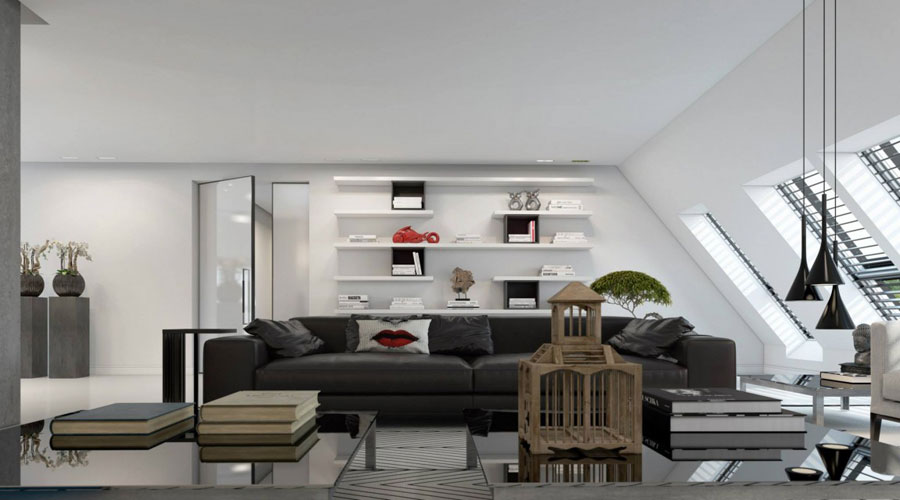 3 Impressive visualization of a stylish apartment interior by Ando Studio