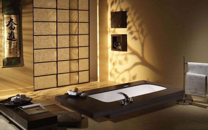 79456099529 The elegant design of Japanese style bathrooms