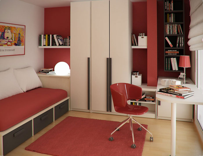 76955234967 Proof that a small bedroom interior can look great