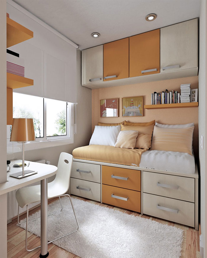 76955373111 Proof that a small bedroom interior can look great