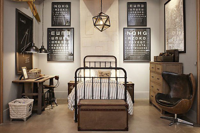 69800283959 Ideas for decorating your industrial style bedroom