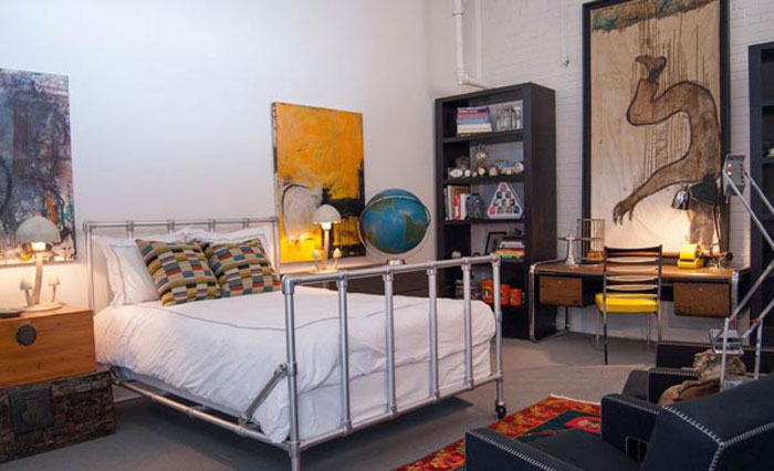 69800217775 Ideas for decorating your industrial style bedroom