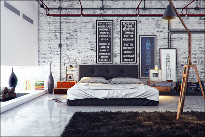 69800323799 Ideas for decorating your industrial style bedroom