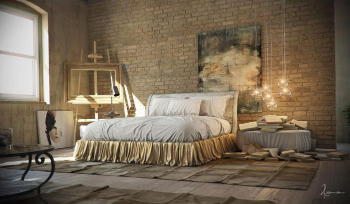 69800357029 Ideas for designing your industrial style bedroom